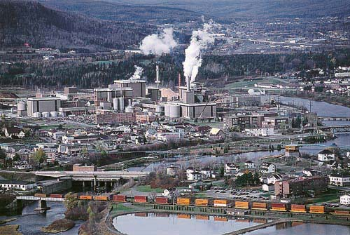 Fraser Paper mill complex in Edmundston, New Brunswick.