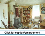 This collection of furnishings at the St. Agatha Historical