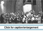 Finale of multi-choir concert held at St. Bruno Catholic Church in Van Buren, Maine, to celebrate the centennial of the arrival of the Sisters of the Immaculate Heart of Mary (the Good Shepherd Sisters), June 21, 1991.